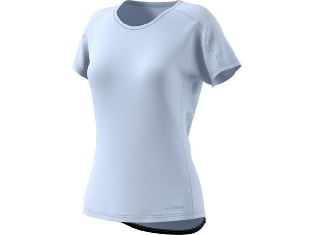 adidas TERREX TrailX T-paita Naiset, aero blue